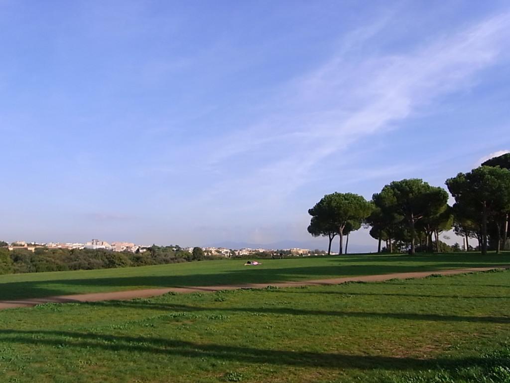ローマのパンフィリ公園 景観