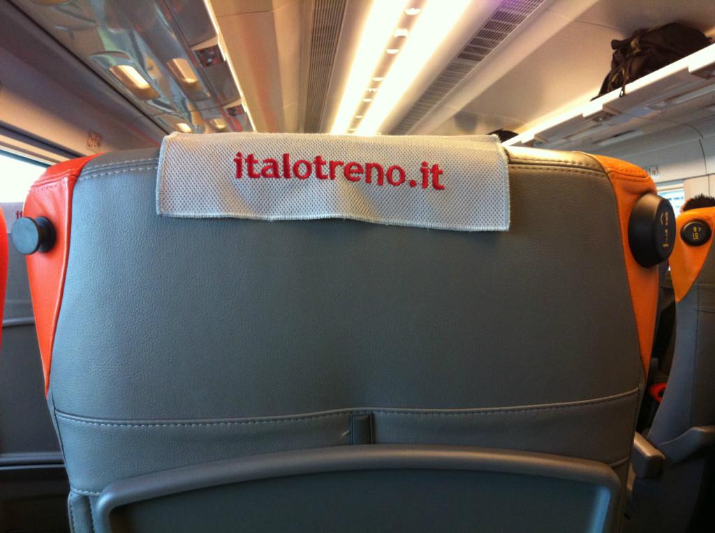 イタリア超高速列車 イタロ 座席