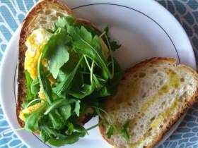 イタリア風のルコラたっぷりサンドイッチ